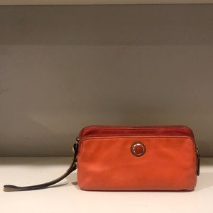 Orange Coach Leather Wallet